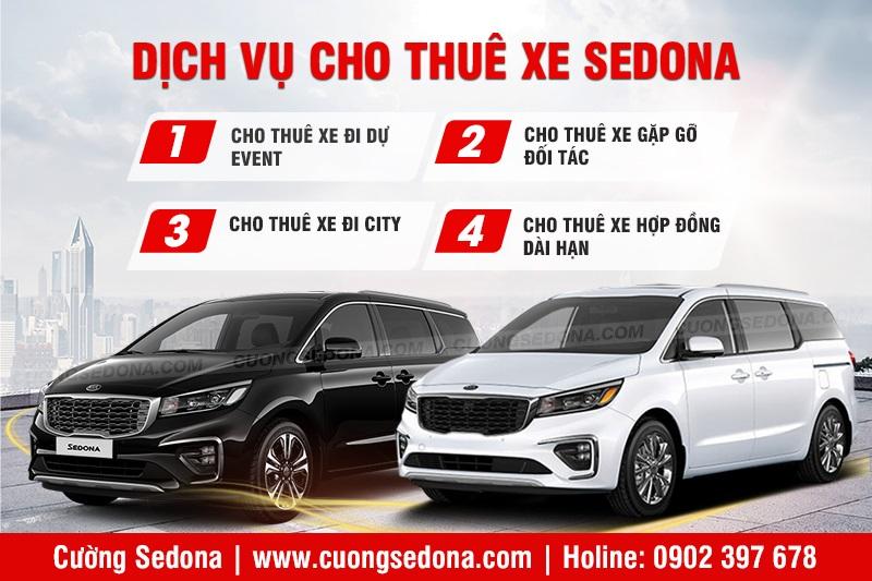 Thuê xe Kia Sedona giá rẻ tại Cường Sedona