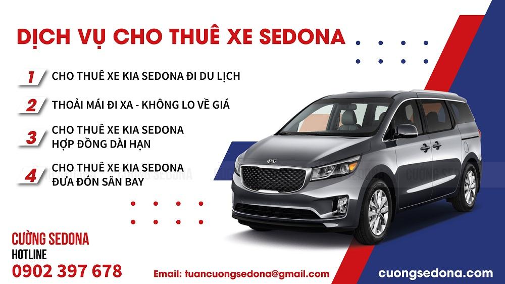 Liên hệ Cường Sedona để biết chi tiết giá thuê xe