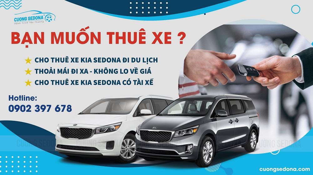 Cho thuê xe Kia Sedona giá rẻ nhất Tp HCM
