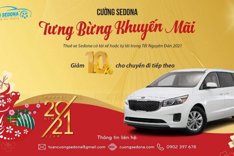 Cho thuê xe Kia Sedona ngày tết tại Tp HCM