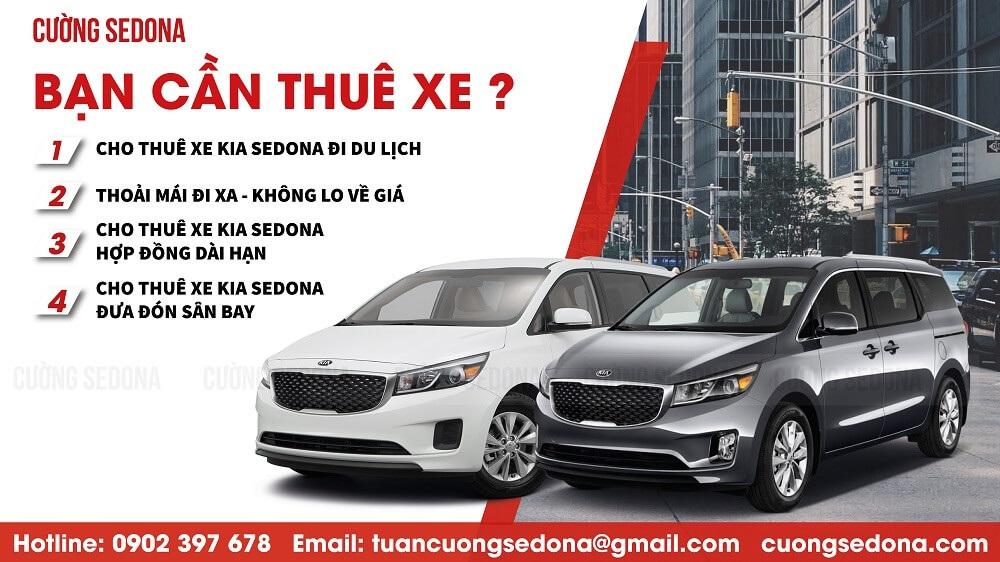 Cho thuê xe Kia Sedona hợp đồng dài hạn tại Tp Hà Nội - Cườn Sedona
