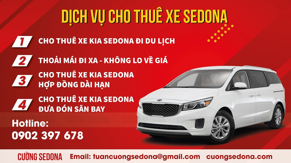 Cho thuê xe Sedona đưa đón sân bay Nội Bài