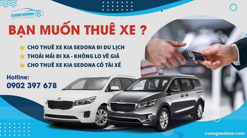Giá cho thuê xe Kia Sedona có tài xế năm 2021 - Cường Sedona