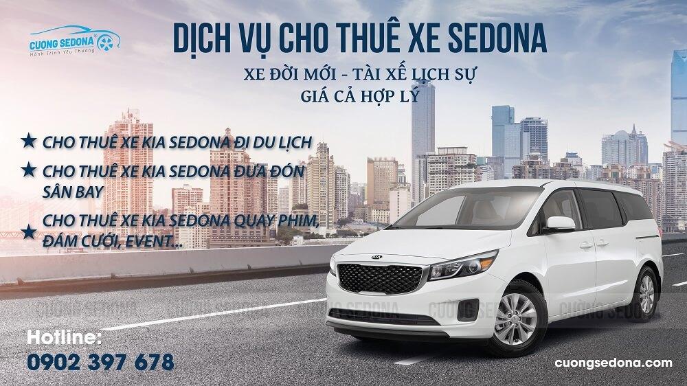 Cho thuê xe Kia Sedona đưa đón sân bay Đà Nẵng giá rẻ