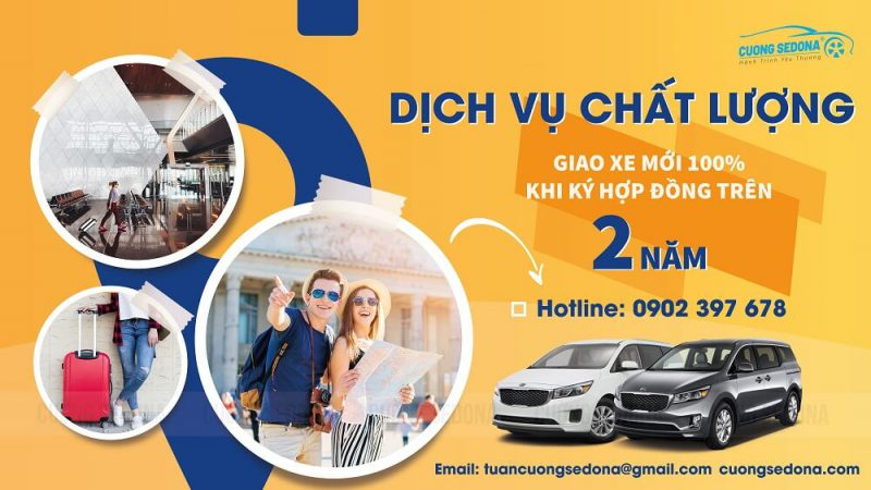 Cho thuê xe Kia Sedona dài hạn tại Huyện Quốc Oai