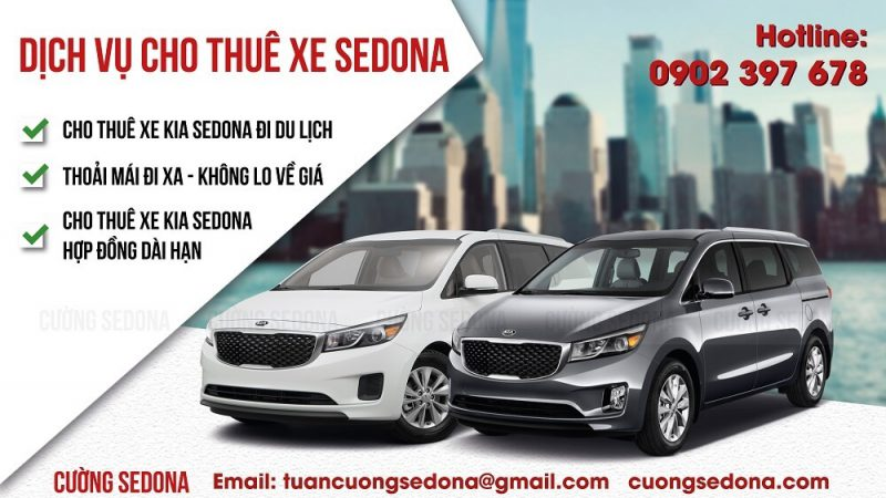 Dịch vụ cho thuê xe Kia Sedona Huyện Quốc Oai